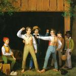 Schoolboys Quarreling