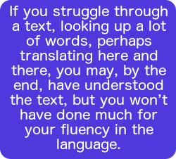 If you struggle through a text