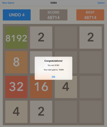 The goal is 2048, but they let you keep going.