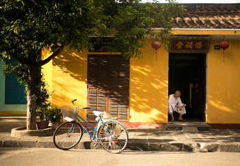 Bike and man in Asia 350x242