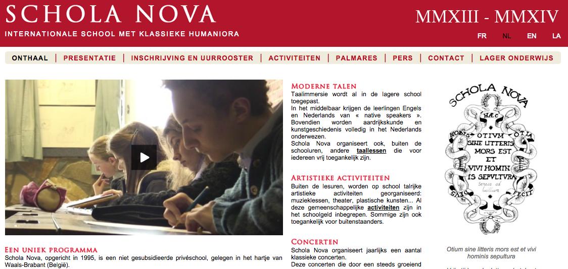 Schola Nova website