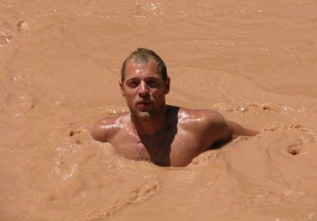 This is me in the Colorado River, but it represents me in the First Year Teaching River.