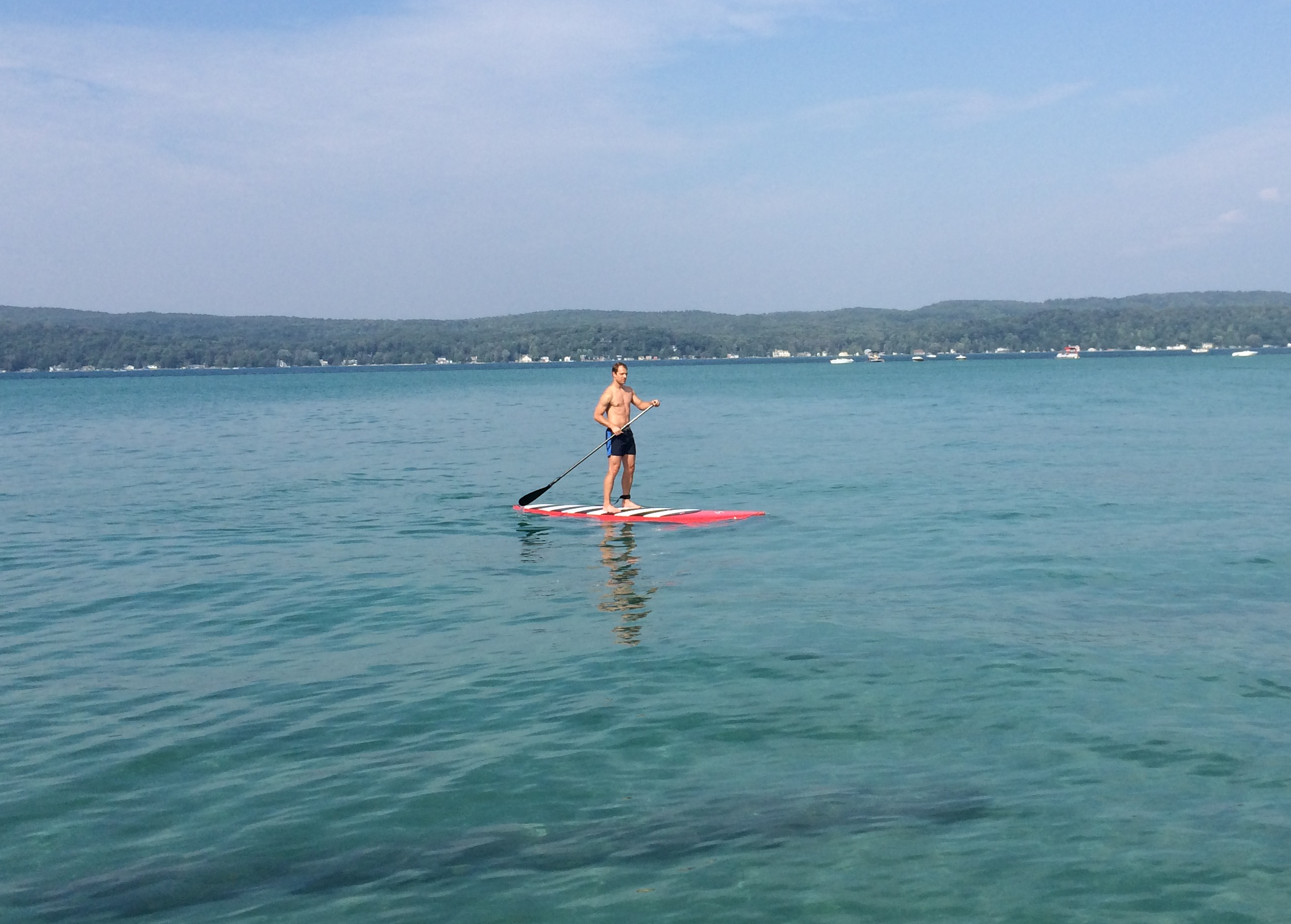 Jsb paddle boarding at Crystal Lake 1