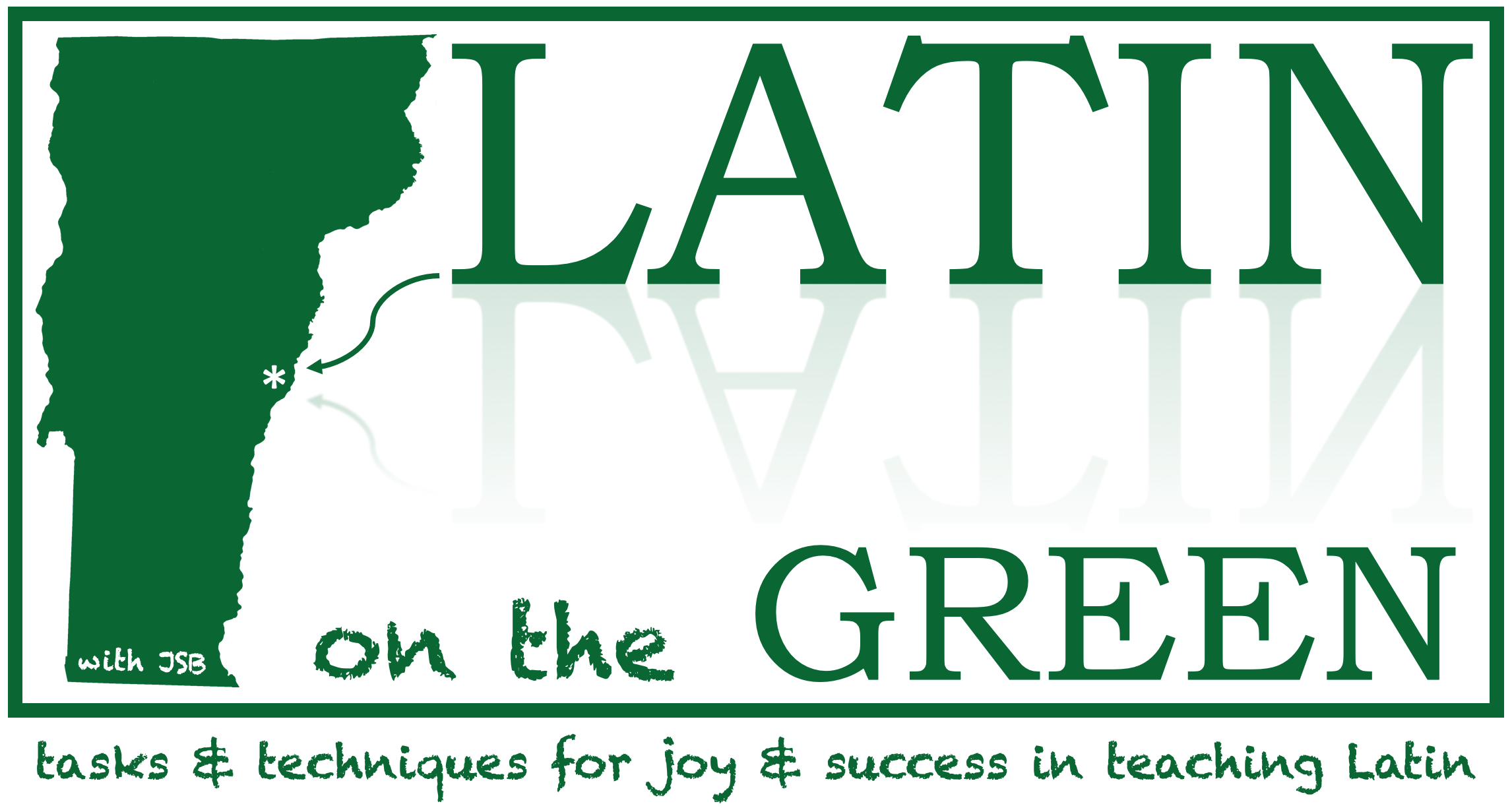 promo banner for Latin on the Green, a workshop in Vermont