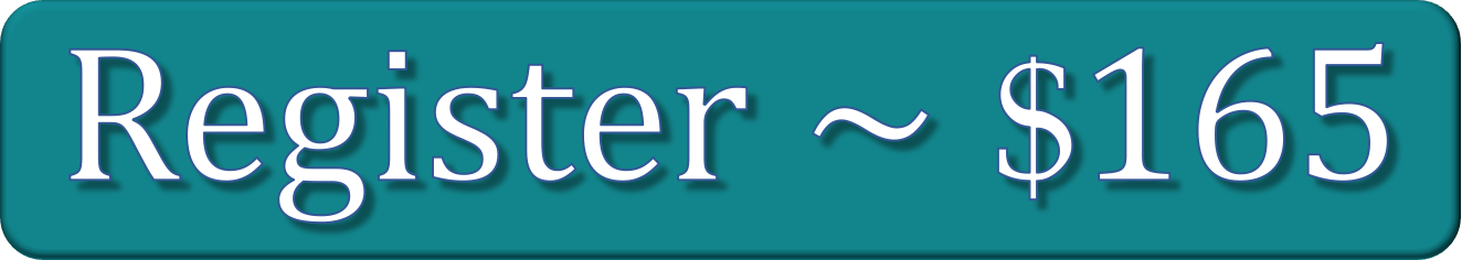 """teal registration button with text """"Register ~ $165"""""""