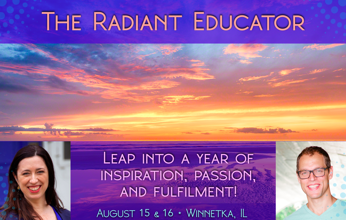 Sunrise photo with text: The Radiant Educator: Leap into a year of inspiration, passion, and fulfilment
