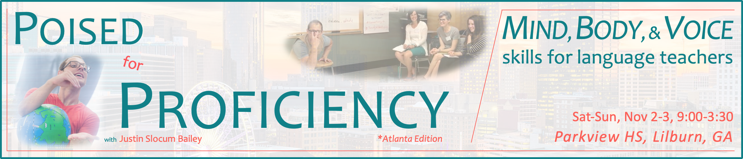 Poised for Proficiency Atlanta banner banner image - November 2-3, 2019