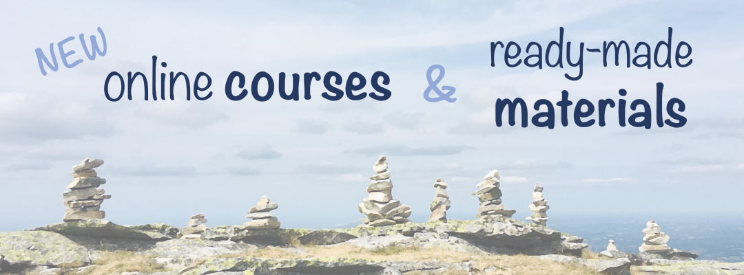 banner with text: New online courses & ready-made materials